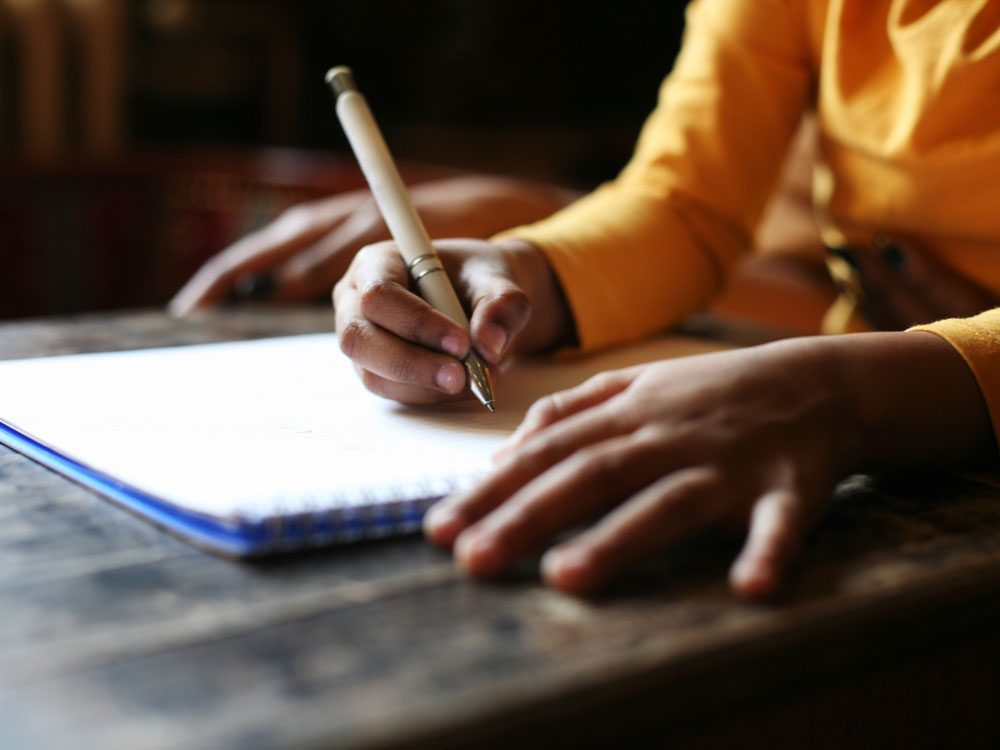 Child handwriting