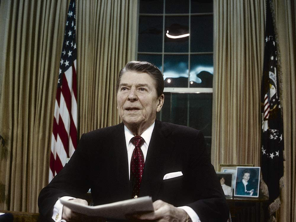 Ronald Reagan in the Oval Office