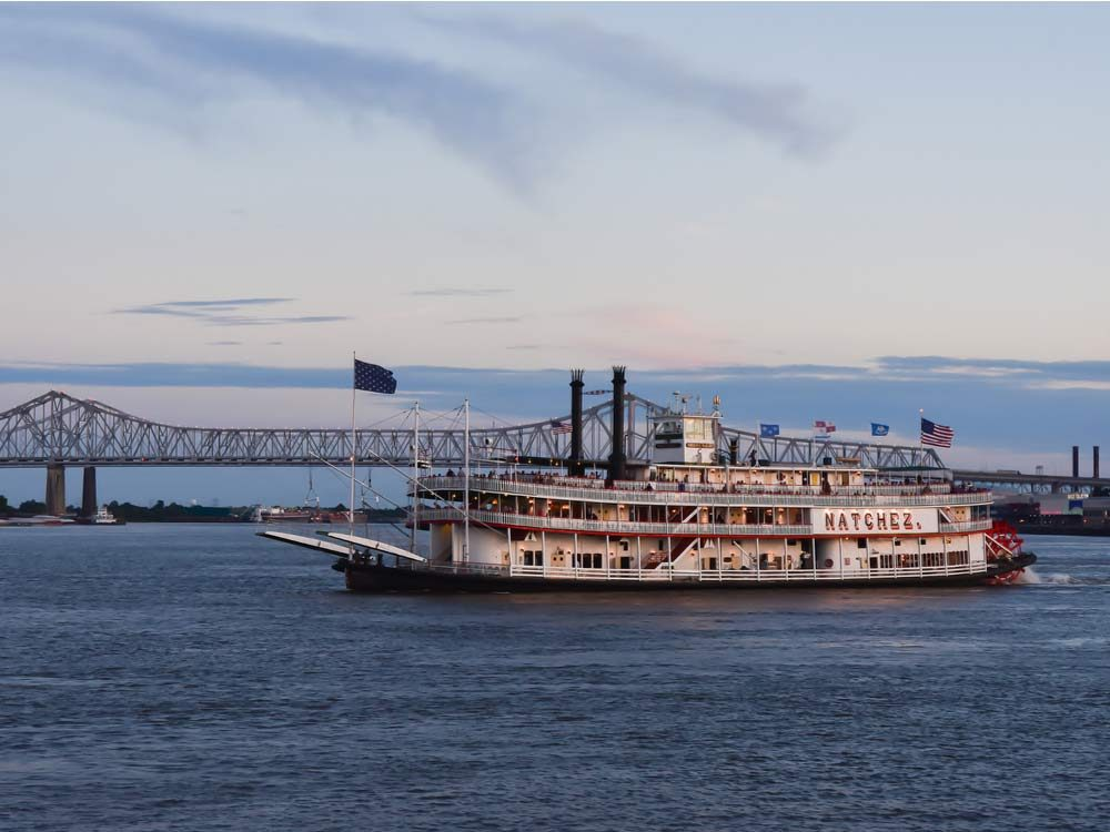 Historic steamboat in New Orleans
