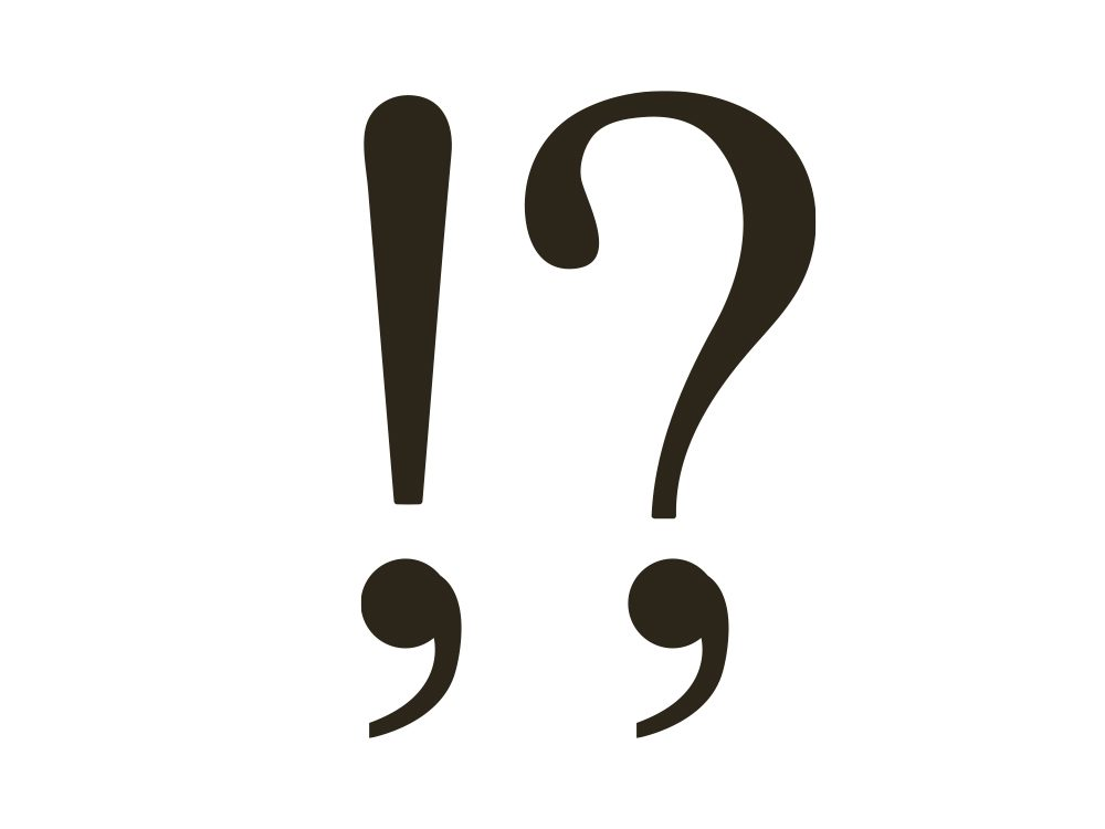 Exclamation and question comma