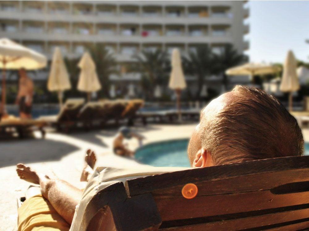 Relaxing at resort in Turkey