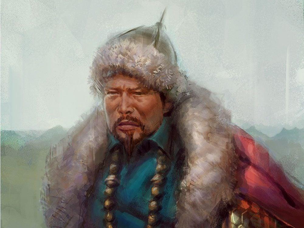 Genghis Khan painting