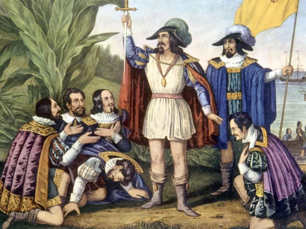 Painting of Christopher Columbus