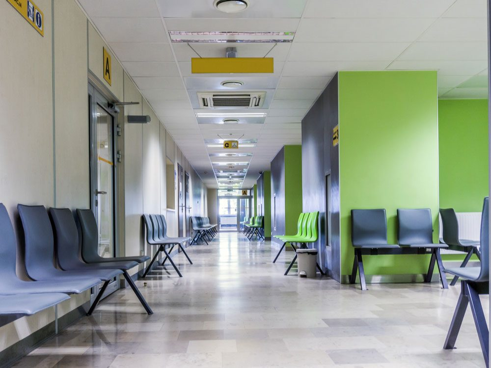 Hallway of hospital
