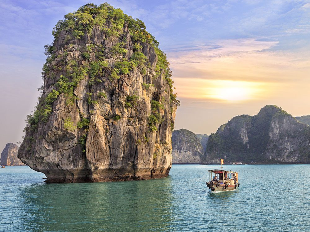 Summer vacation in Halong Bay, Vietnam