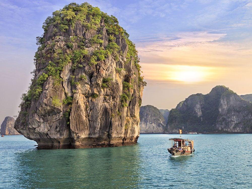 Summer vacation in Halong Bay, Vietnam