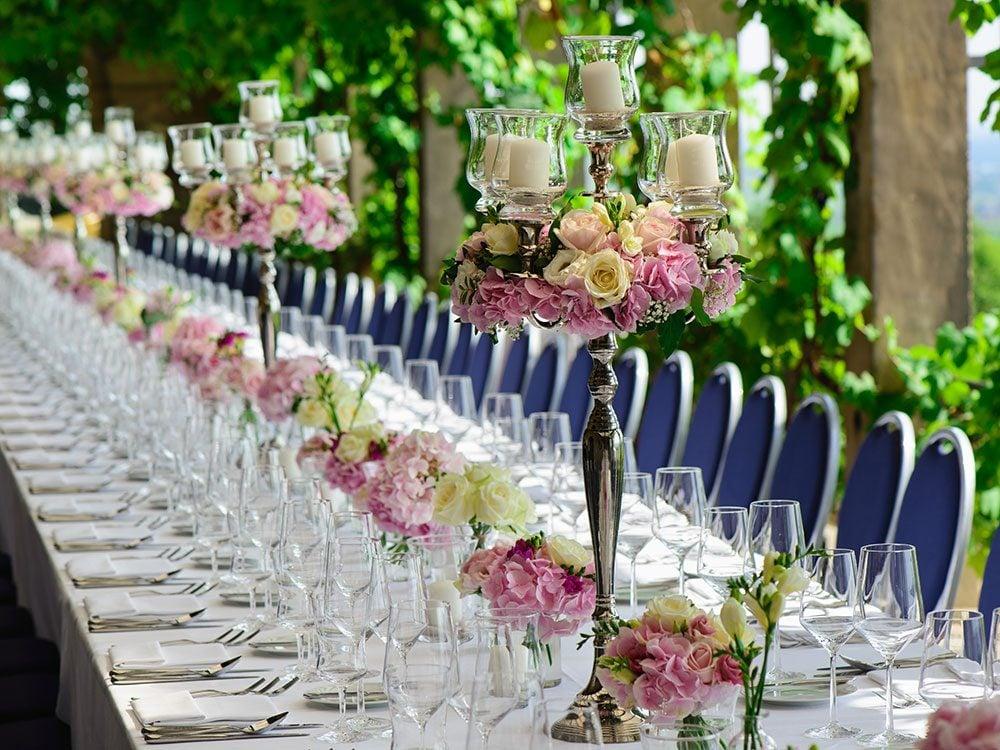 Destination wedding in a Canadian vineyard