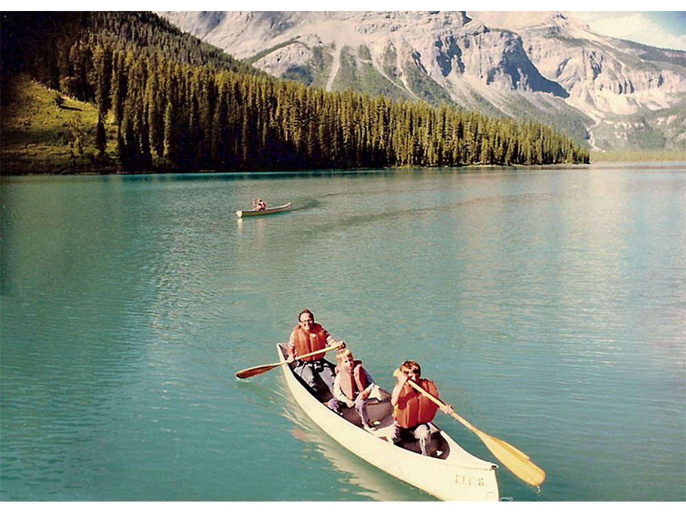 Canoeing on Emerald Lake, British Columbia