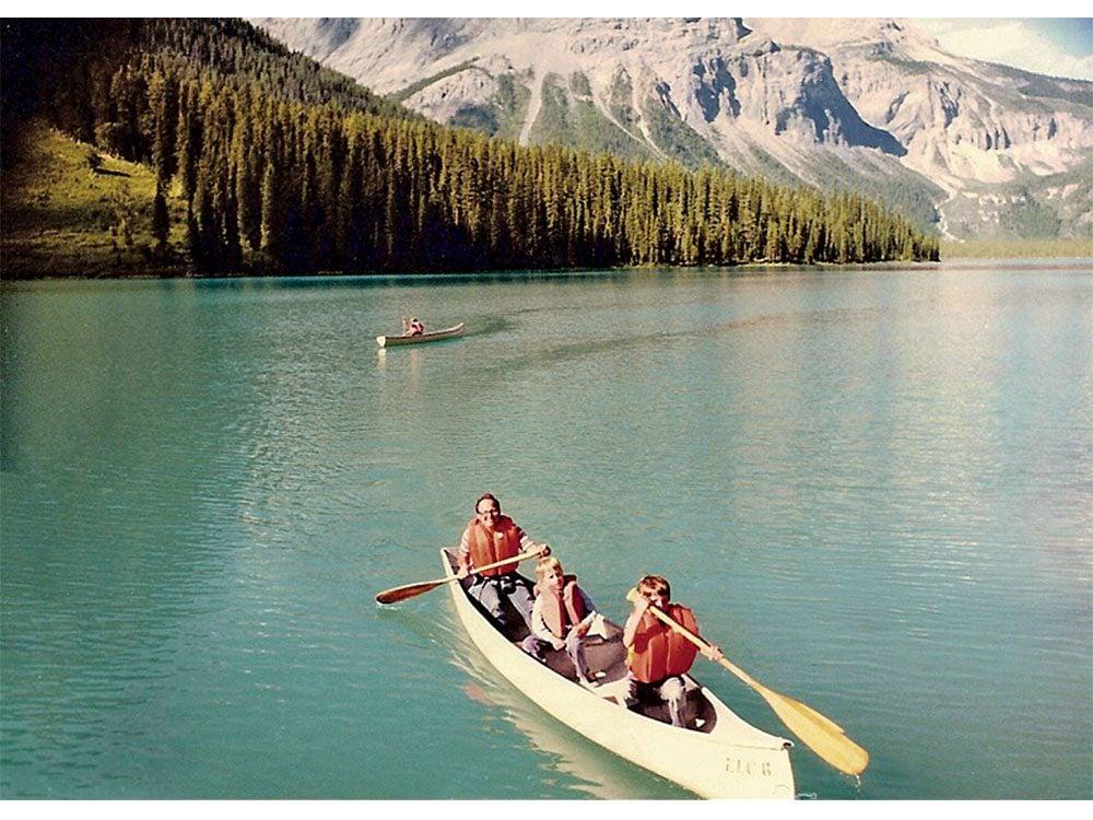 Canoeing on Emerald Lake, British Columbia