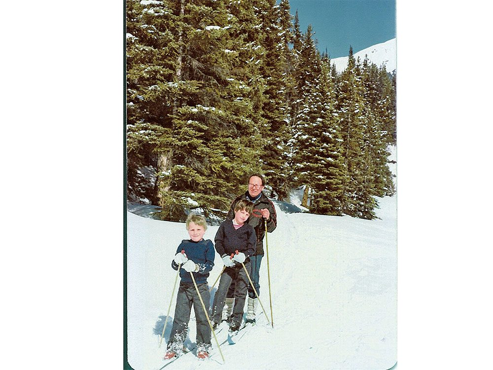 Cross-country skiing in Jasper, Alberta