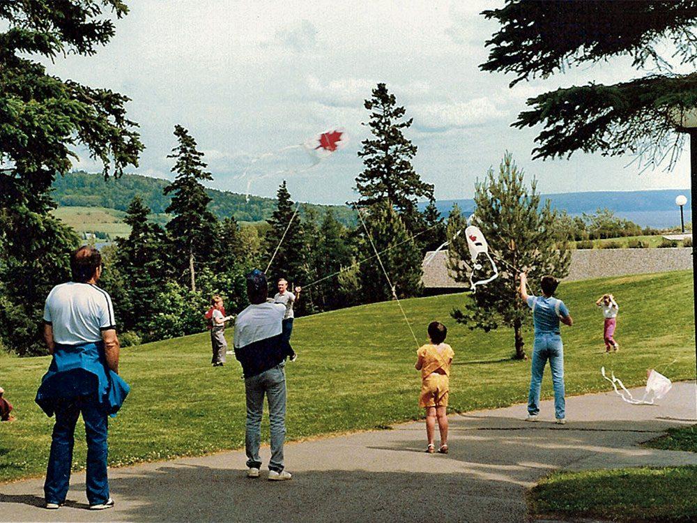 Family time in Baddeck, Nova Scotia