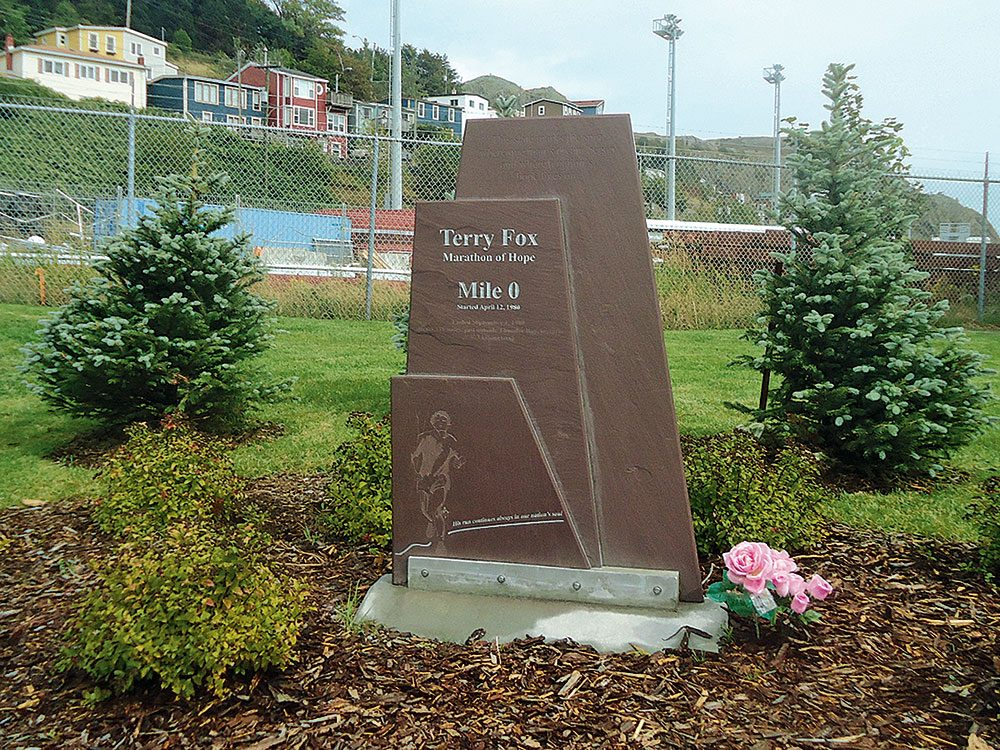 Terry Fox Mile 0 site in St. John's, Newfoundland
