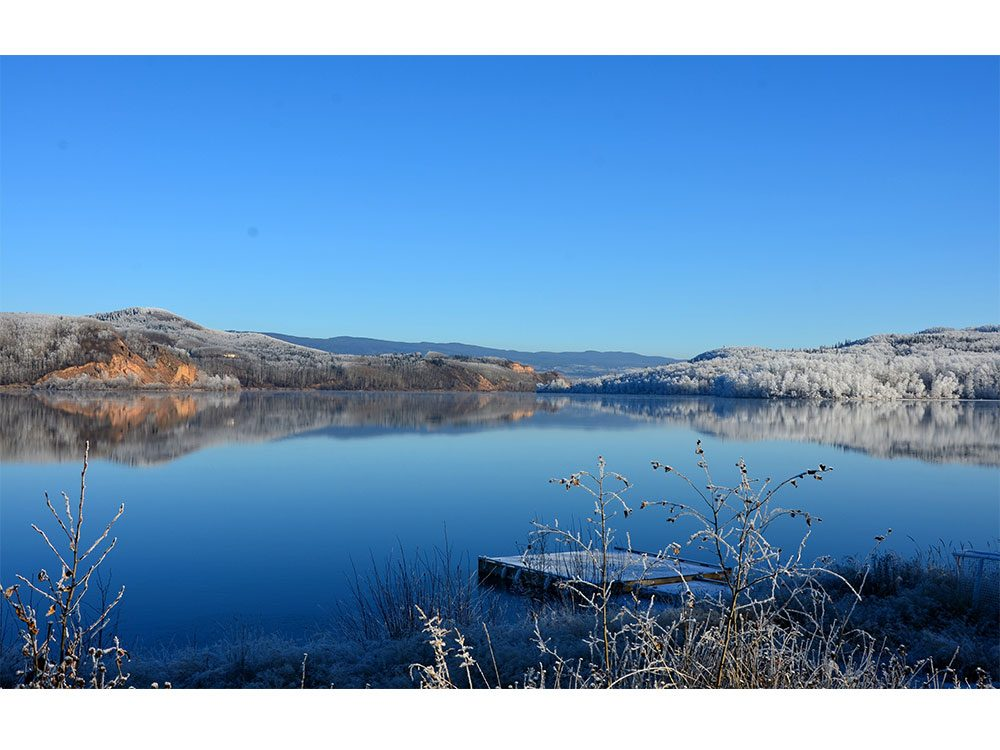 Burns Lake, British Columbia in wintertime