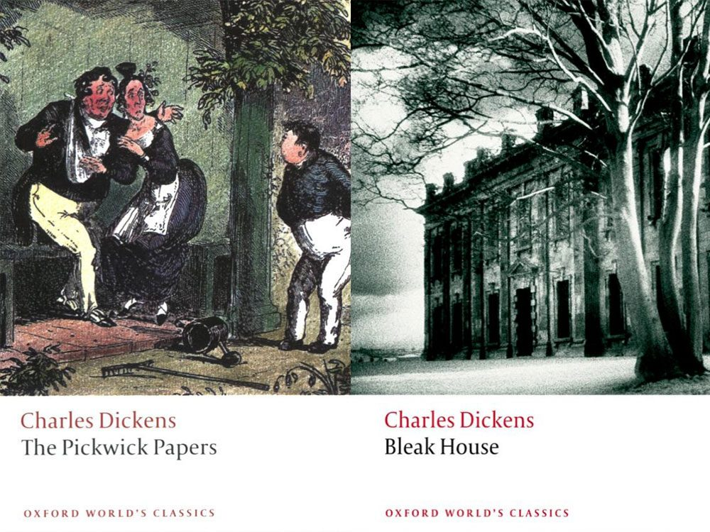 """""""The Pickwick Papers"""" and """"Bleak House"""" by Charles Dickens"""