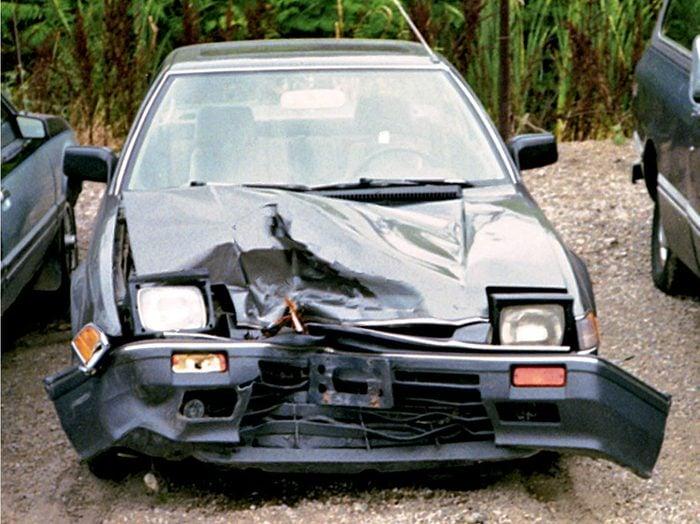 1985 Honda Prelude wreck