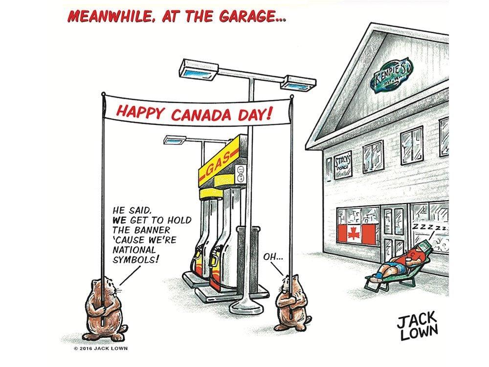 At the Garage cartoon