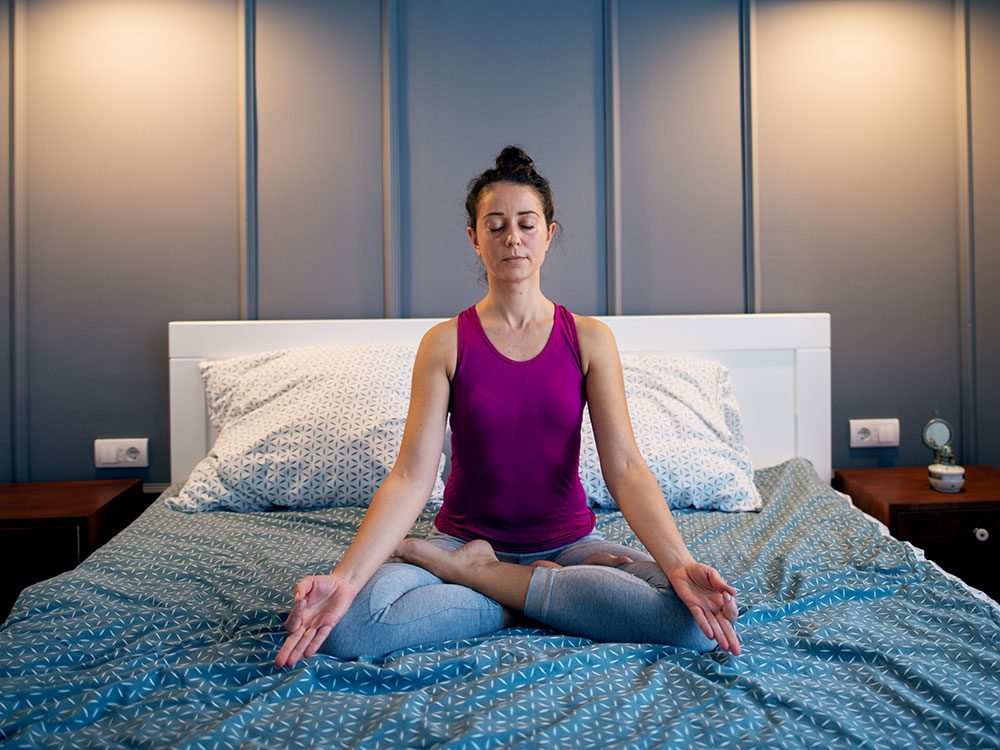 Fall asleep fast through meditation