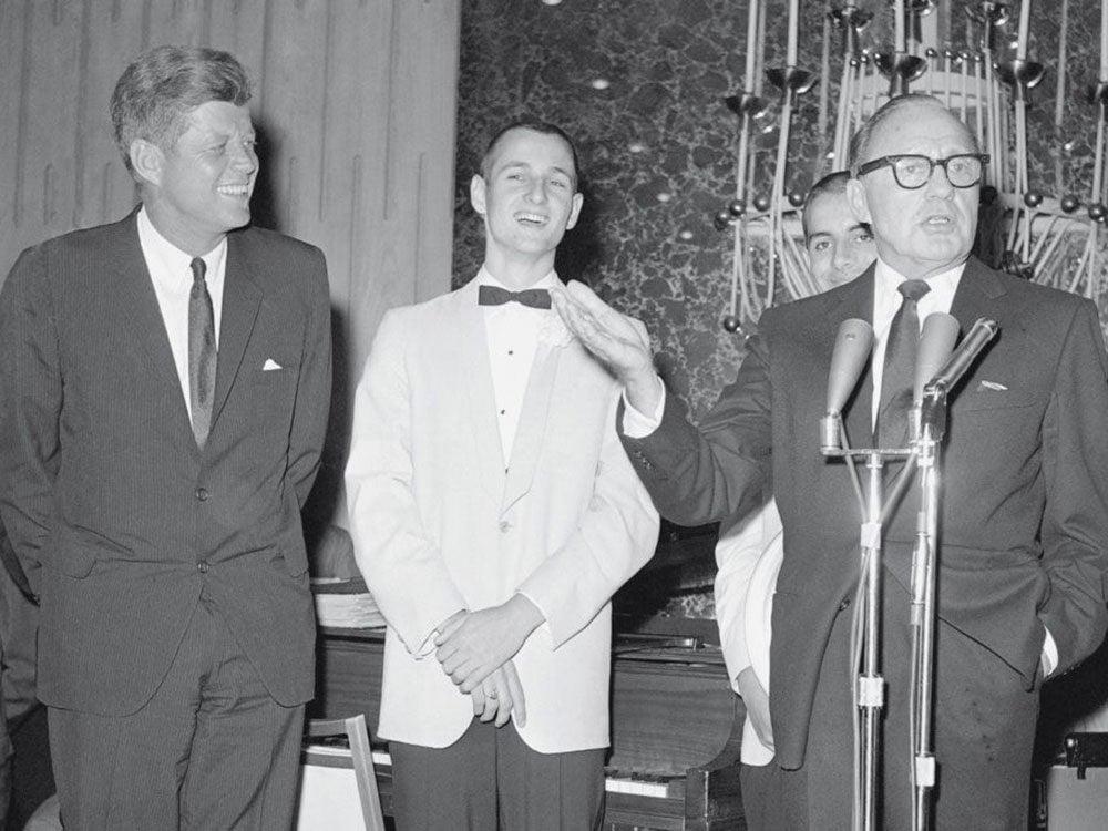 John F. Kennedy at local high school prom in 1963
