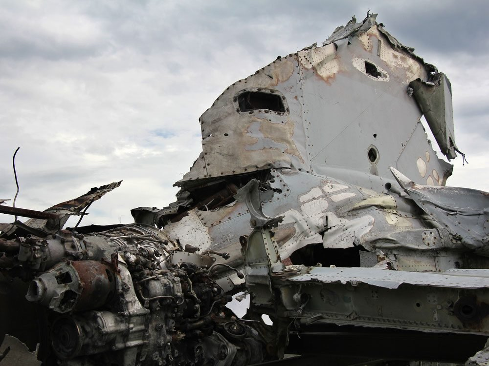 Remains of airliner crash