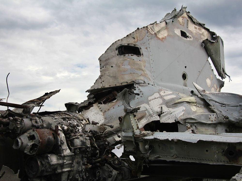 Remains of airliner crash