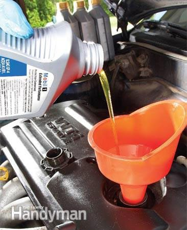 How to do an oil change yourself - add fresh oil