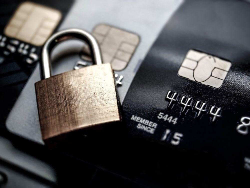 Securing credit card