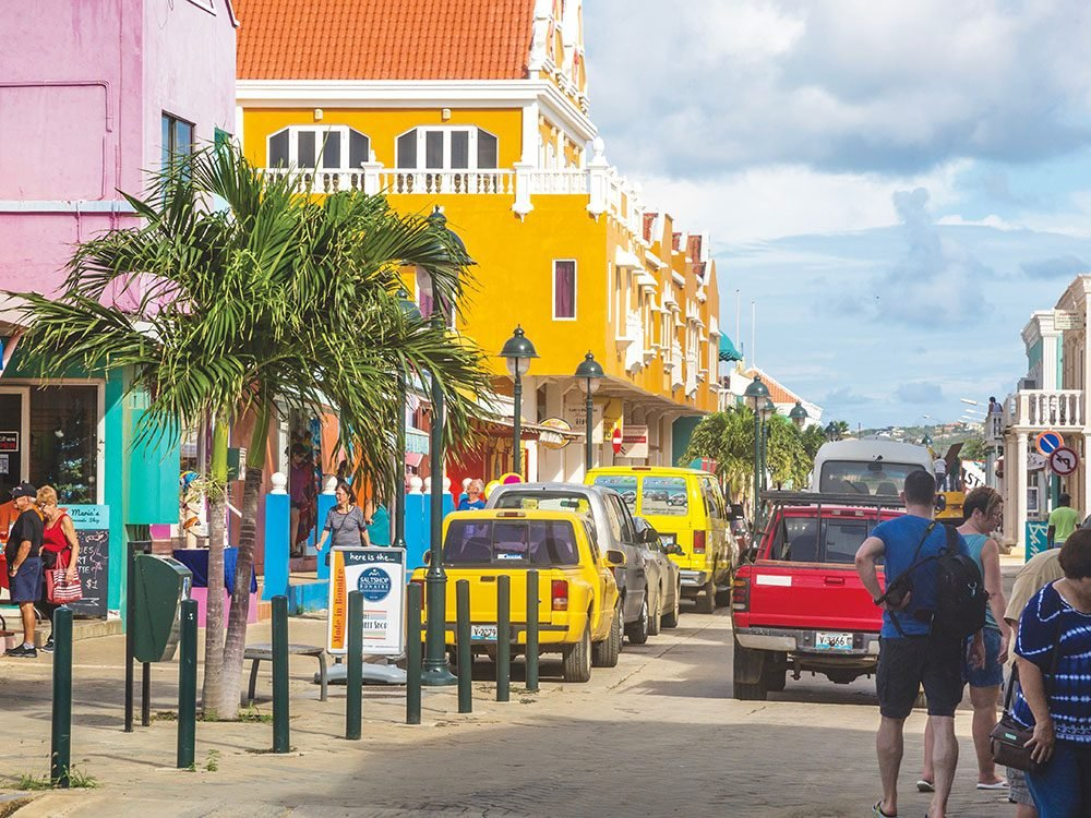 Main street in downtown Bonaire