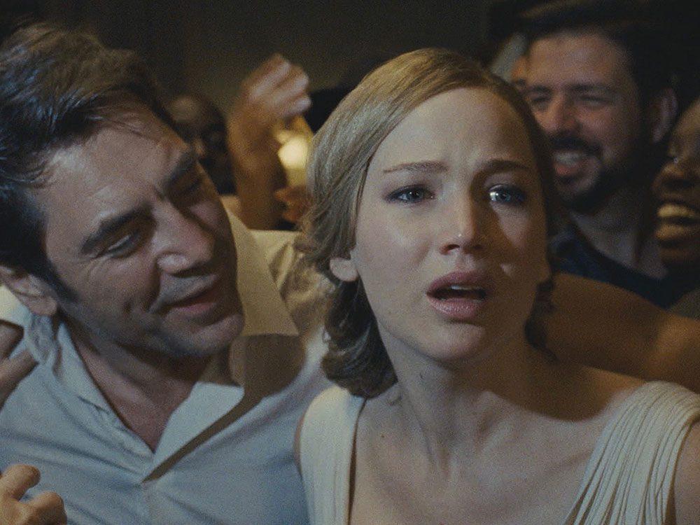 "Jennifer Lawrence and Javier Bardem in ""Mother"""