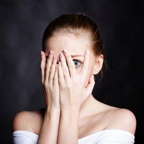 Woman feeling fear