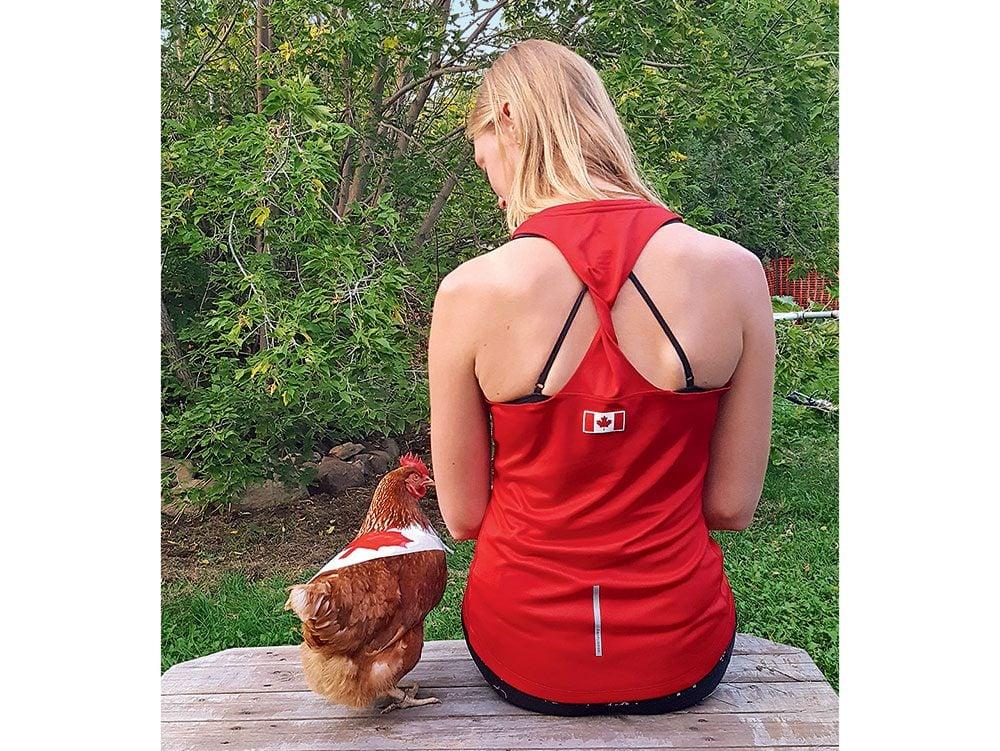 Canada Day: Maple leaf chicken