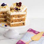 Lemon luster wedding cake