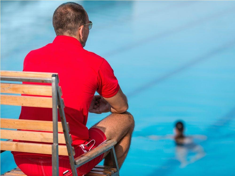 Lifeguard on watch