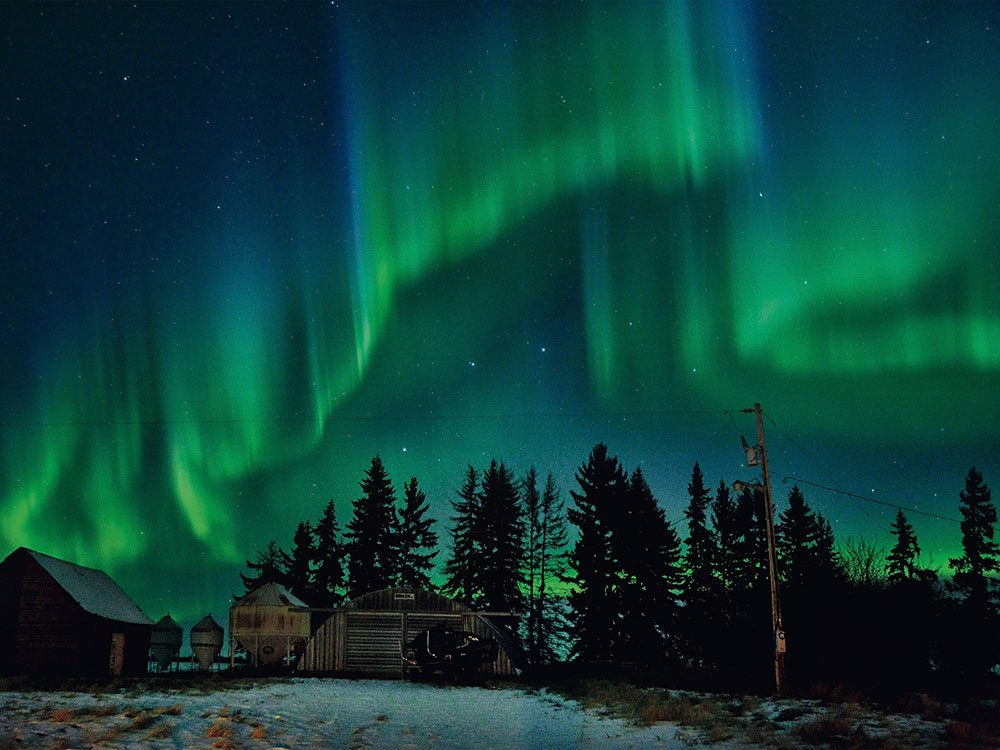 Northern lights in Saskatchewan