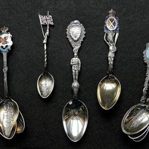 Spoon collection - several souvenir spoons