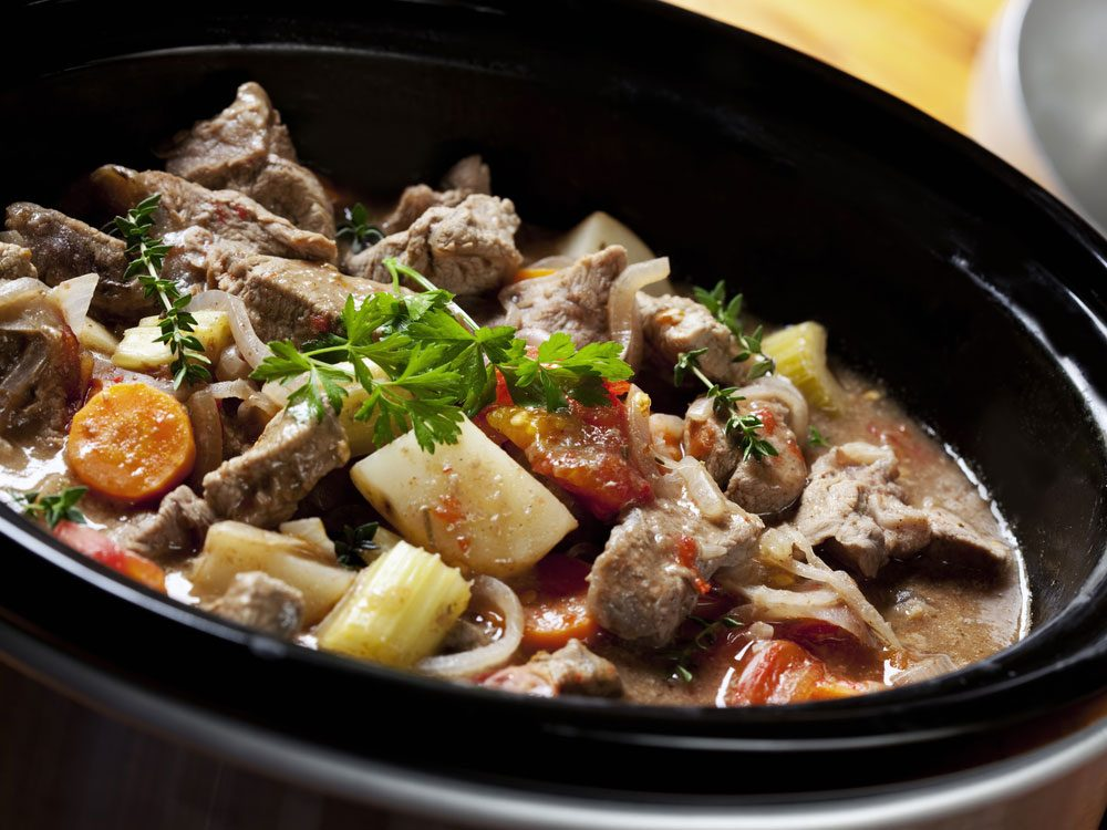 Beef dish in slow cooker