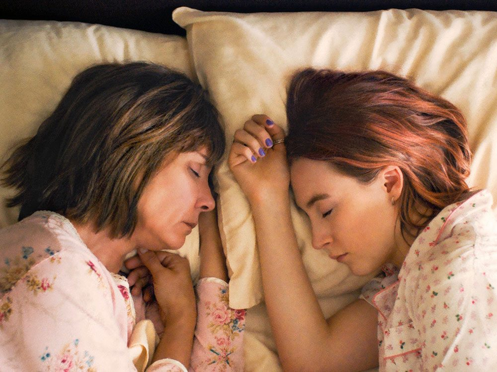 "Laurie Metcalf and Saoirse Ronan in ""Lady Bird"""