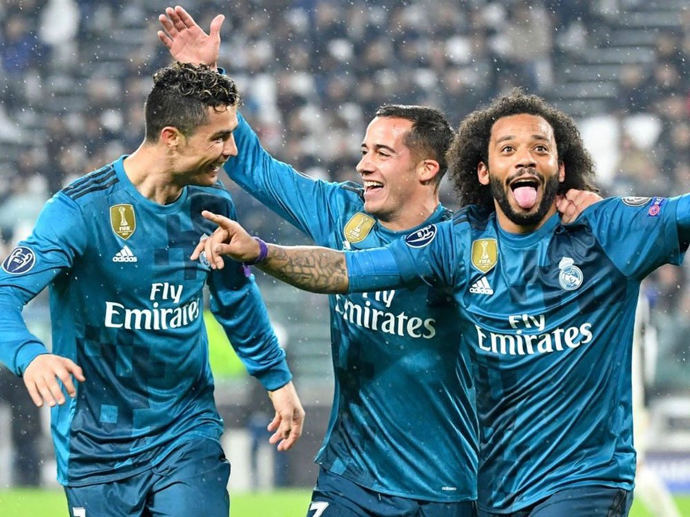 Cristiano Ronaldo with Real Madrid