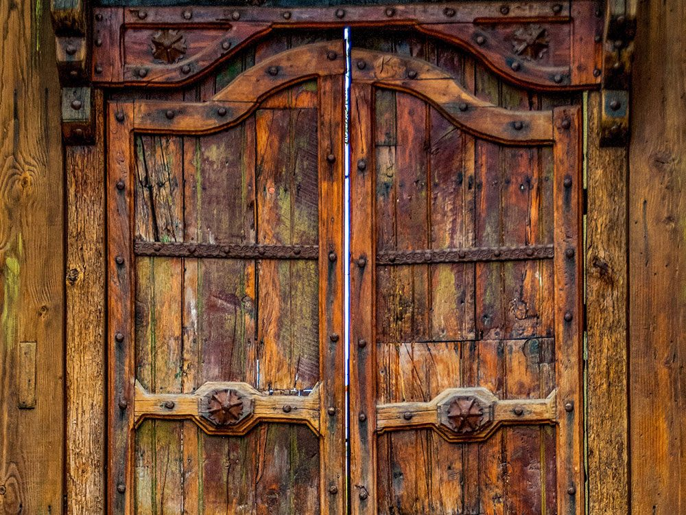 Beautiful wood door