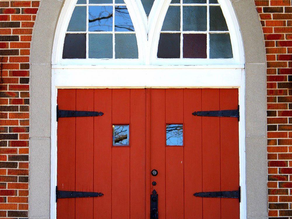 Giant red doors