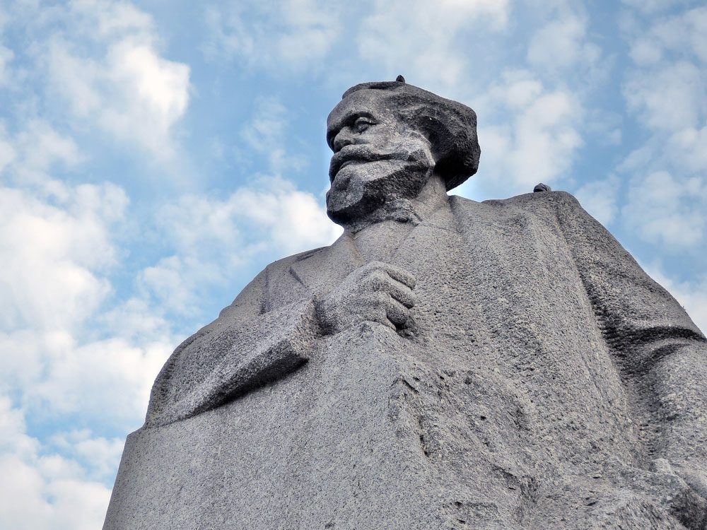 Statue of Karl Marx in Russia