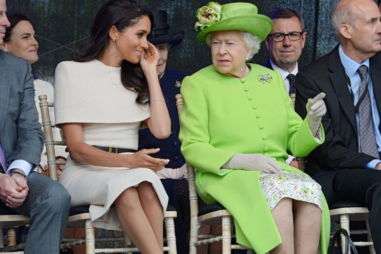Meghan Markle and Queen Elizabeth II at event