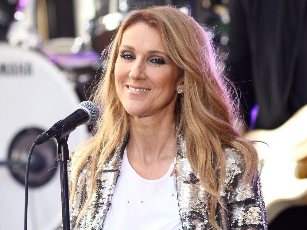 Celine Dion performing live