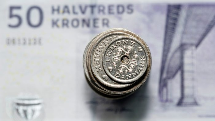 Made in Canada - A stack of kroners
