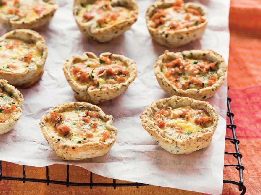 Mini salmon breakfast quiches