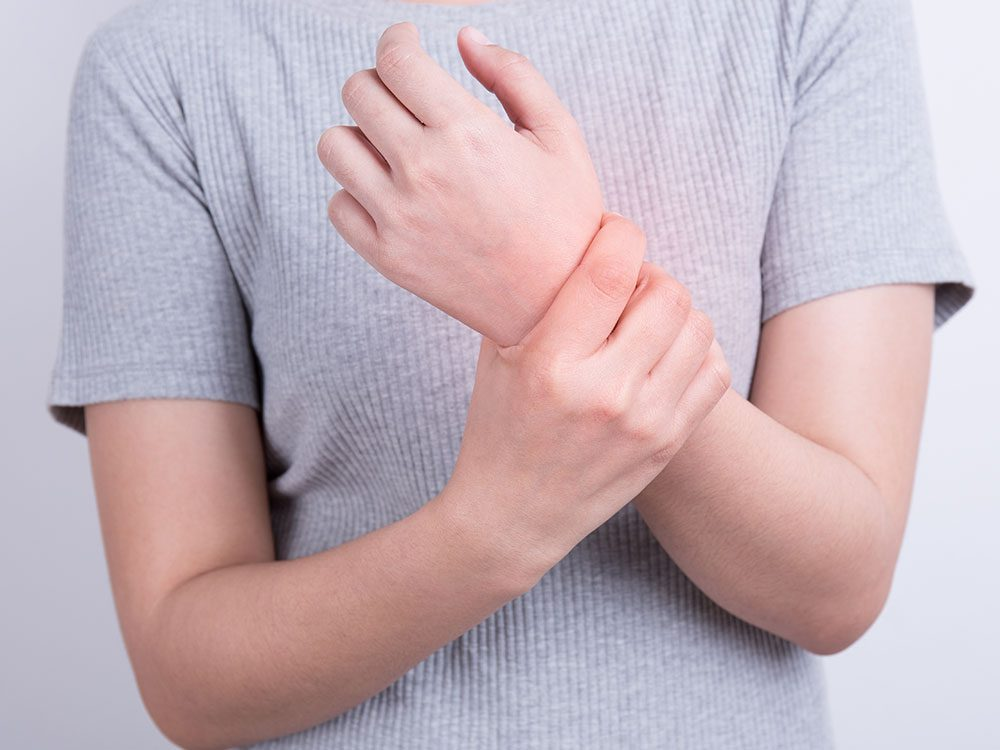 Person suffering from paresthesia