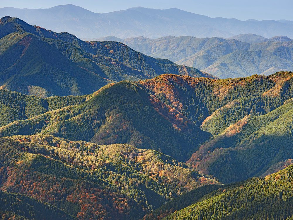 Koyasan mountain region in Japan
