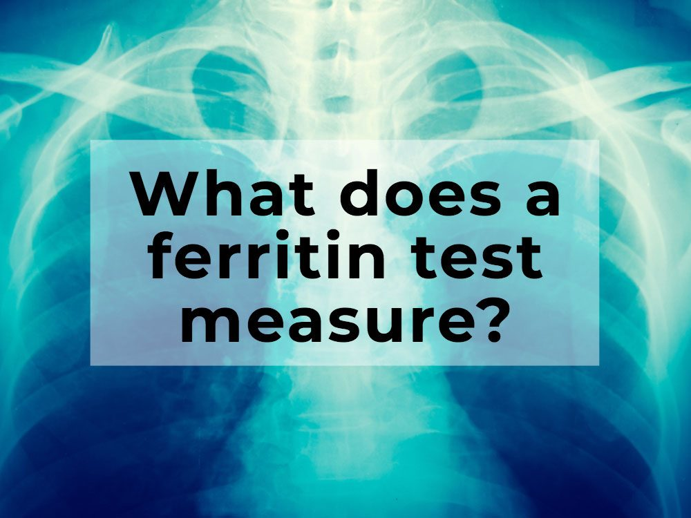 What does a ferritin test measure?