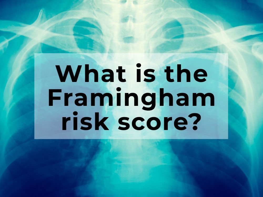 What is the Framingham risk score?