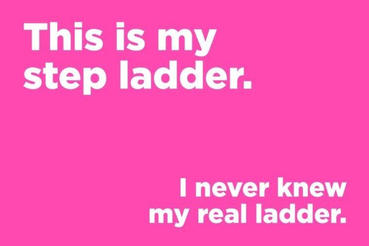 Corny jokes - this is my step ladder