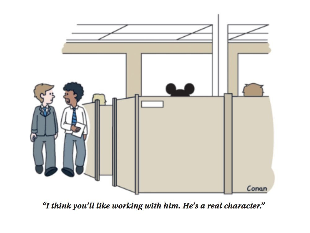 Work cartoons